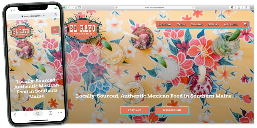 El Rayo Taqueria website by Lobstervine